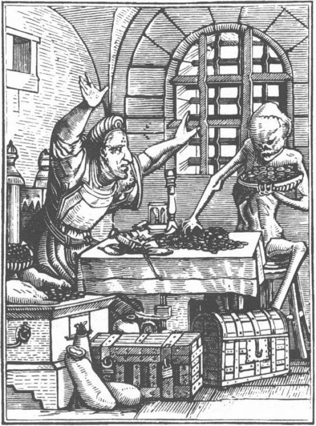 Ганс Гольбейн.Пляска смерти. Купец.1526