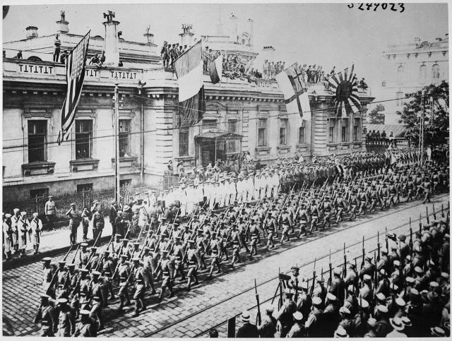 Парад интервентов во Владивостоке, 1918 год