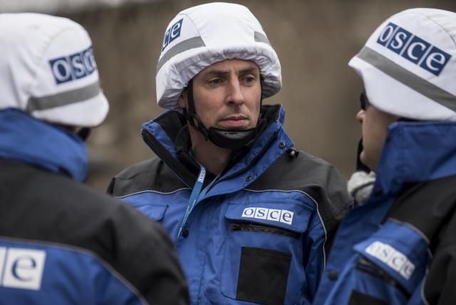 Сотрудники ОБСЕ на Украине
