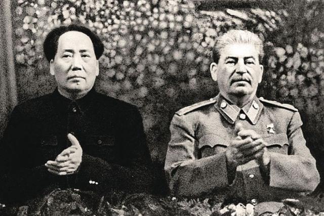 Мао Цзедун и Иосиф Сталин