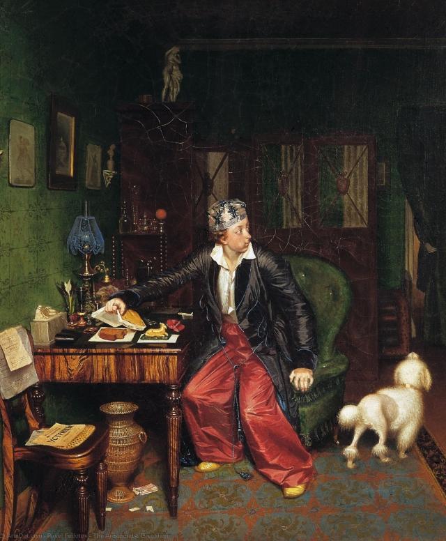 Павел Андреевич Федотов. Завтрак аристократа. 1850