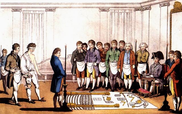 Посвящение в масоны. Франция, 1745