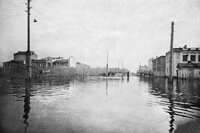 Наводнение ул. Советская. Орск. Оренбургская область. 1942