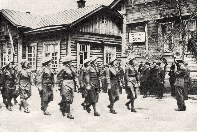 Чехословацкие солдаты (женский батальон). Бузулук. Оренбургская область. 1942