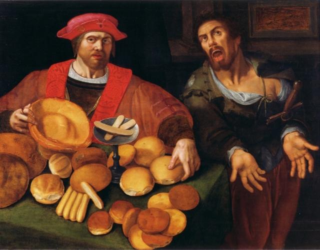 Неизвестный художник. Богач и бедняк. XVII век