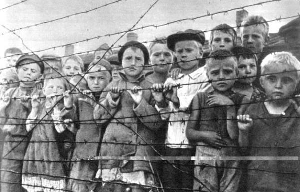 Дети в финском концлагере