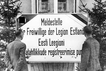Объявление «Призывной пункт для добровольцев Эстонского легиона». Сентябрь 1942 года
