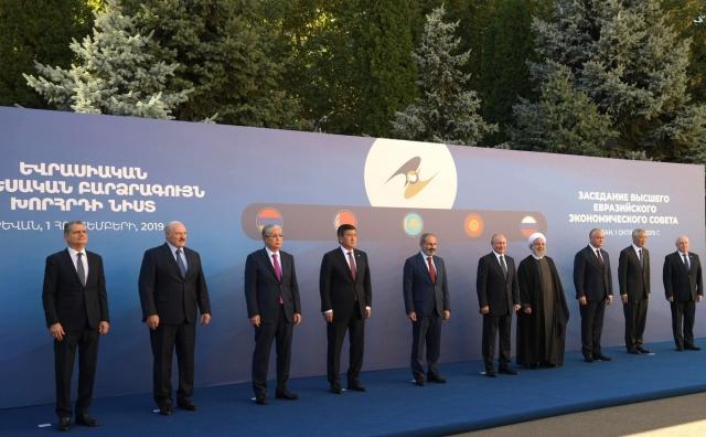 Главы стран входящих в ЕАЭС