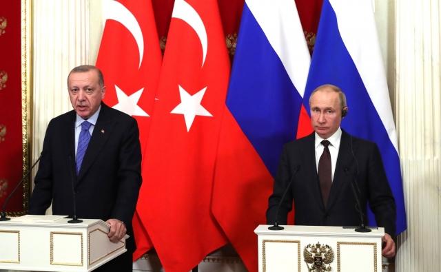 Встреча Владимира Путина и Реджепа Тайипа Эрдогана. Москва. 5 марта 2020
