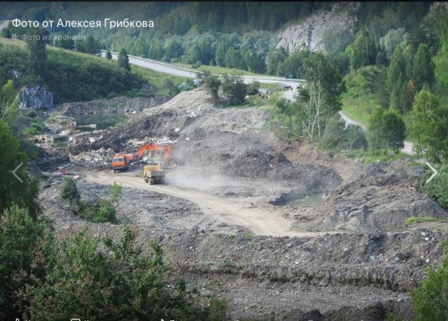 Последствия работы алтайских золотодобытчиков на реке Ануй