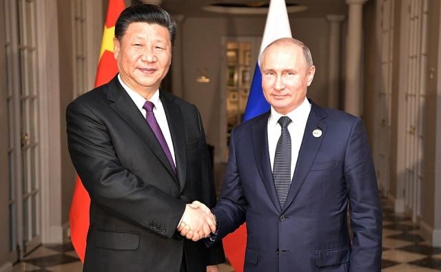 Си Цзиньпин и Владимир Путин