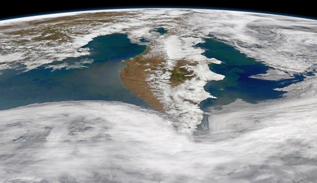 Камчатка. Вид из космоса