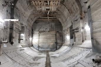 Строительство станции метро «Большой проспект» (Горный институт)
