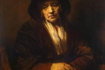 Рембрандт Харменс ван Рейн. Портрет старухи (фрагмент). 1654