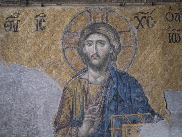 Изображение Иисуса Христа в соборе Святой Софии