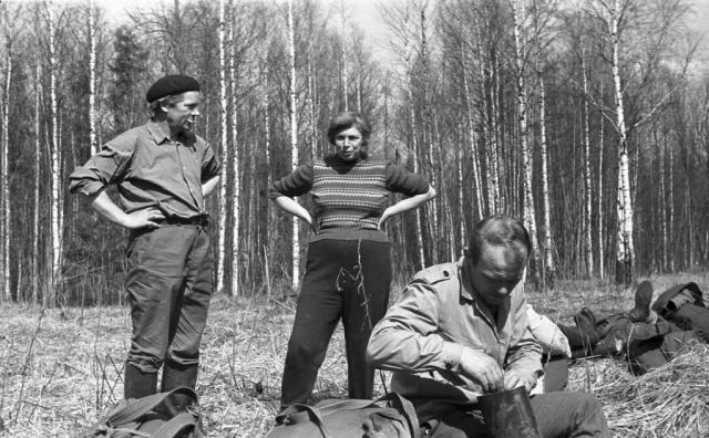 Участники военно-патриотического поискового отряда «Сокол». 1969