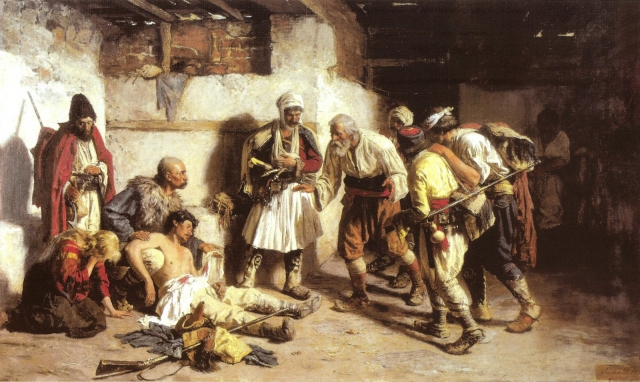 Пая Йованович. Раненый черногорец. 1882
