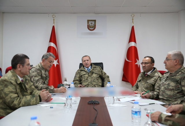 Реджеп Тайип Эрдоган встречается с турецкими генералами