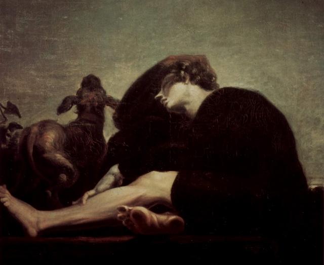Иоганн Генрих Фюссли. Одиночество на рассвете. 1796