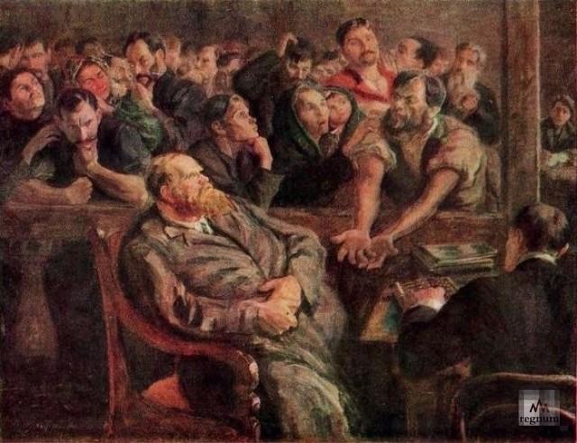 Николай Верхотуров. Расчёт. Перед стачкой. 1910