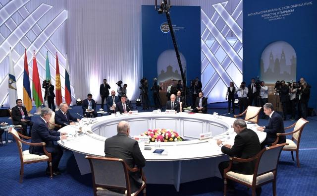Заседание Высшего Евразийского экономического совета. Нур-Султан. 2019