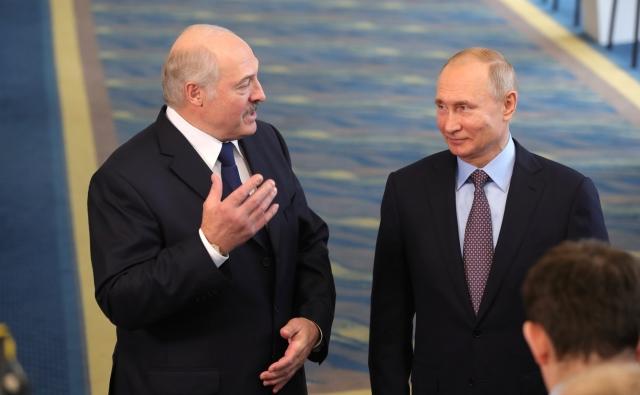 Александр Лукашенко и Владимир Путин. 15 февраля 2019 года, Сочи