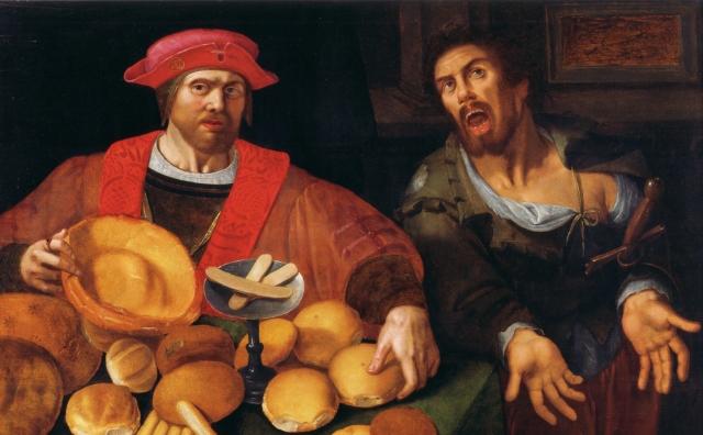 Богатый и бедный. Неизвестный фламандский художник, XVII век