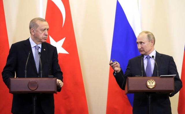 Владимир Путин и Реджеп Эрдоган. Сочи. 2019
