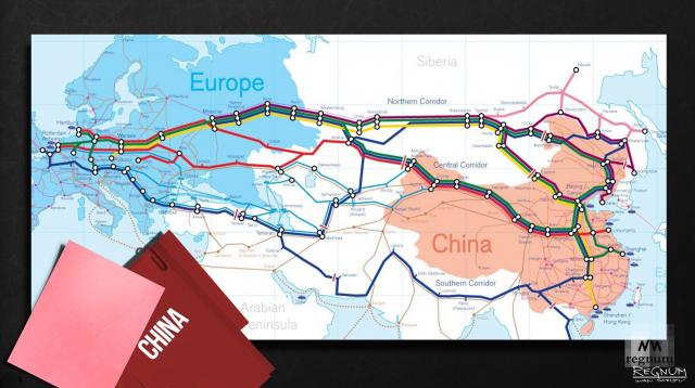 Белоруссия на карте Китая