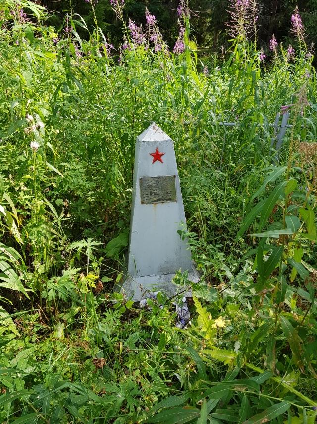 Могила красноармейцев, погибших в 1919 году в селе Кургомень Виноградовского района Архангельской области