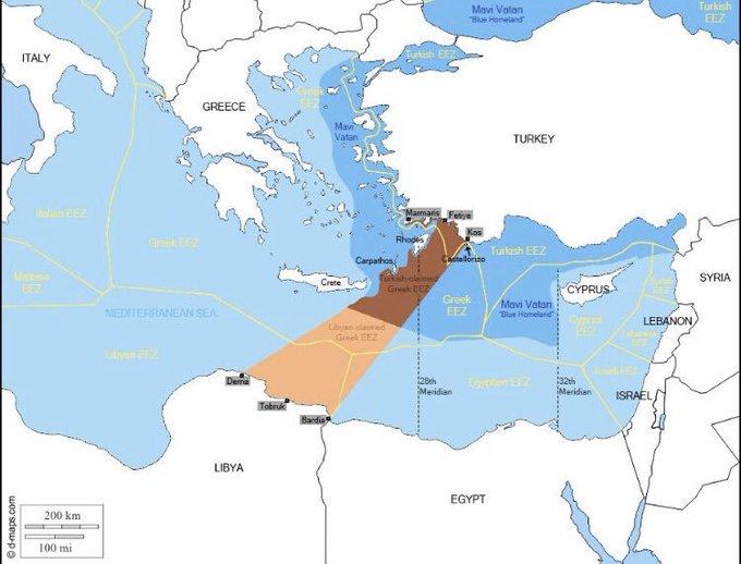 Восточное Средиземноморье между Турцией и Ливией