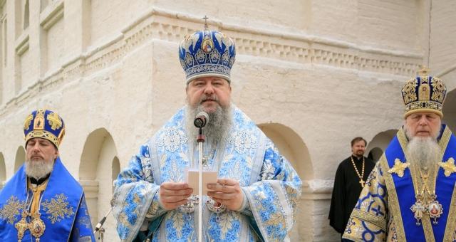 Митрополит Архангельский и Холмогорский Корнилий на праздновании 500-летия Антониево-Сийского монастыря
