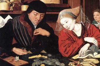 Маринус ван Реймерсвале. Банкир со своей женой