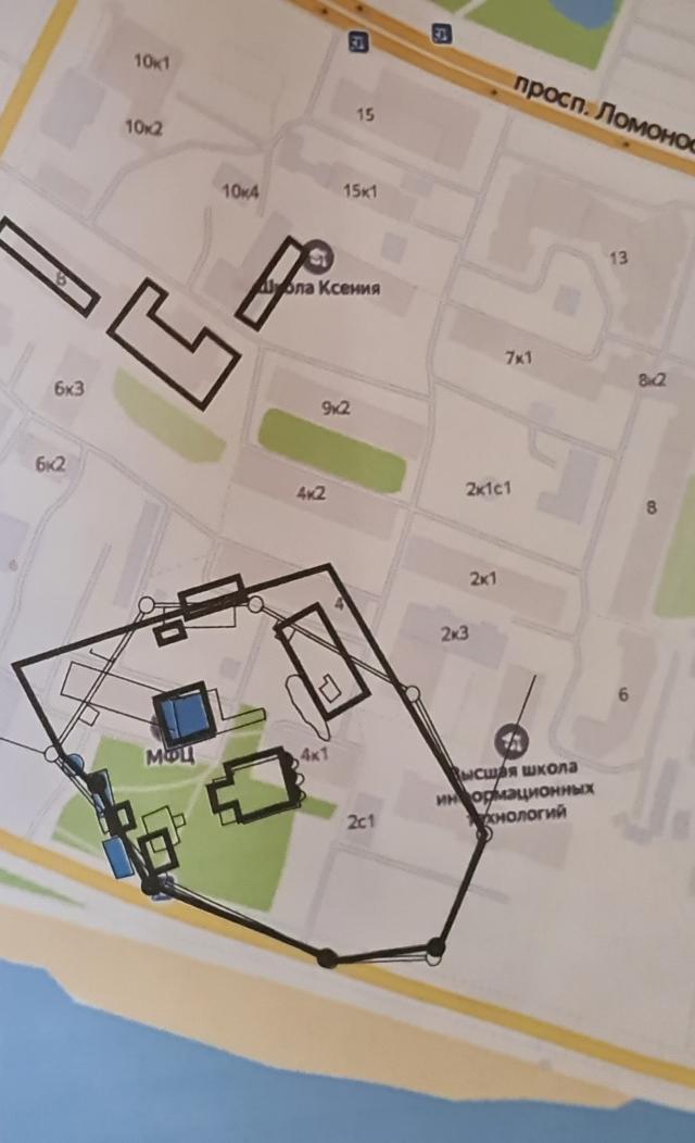 План местности с привязкой исторических планов монастыря к современной территории