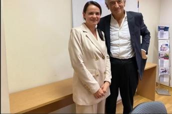 Светлана Тихановская и Бернар Анри Леви