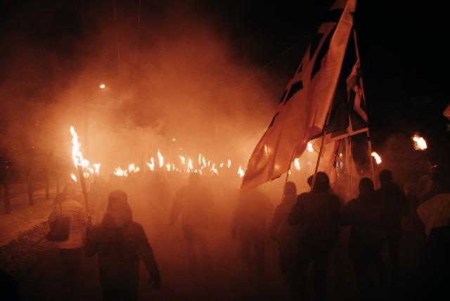Факельное шествие украинских националистов