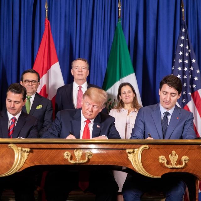 Подписание Соглашения о свободной торговле между США, Мексикой и Канадой взамен прежнего NAFTA. 30 ноября 2018 года
