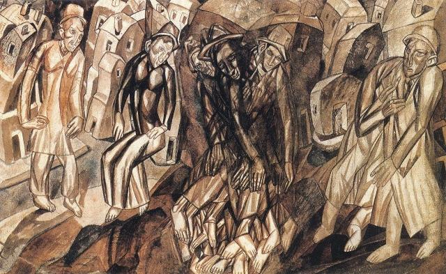 Павел Филонов. Композиция. Перерождение интеллигента. 1913