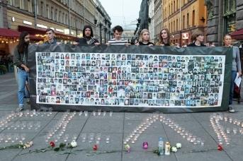 Акция памяти жертв трагедии в Беслане