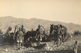 5-й Королевский стрелковый полк гуркхов в Вазиристане во время Третьей англо-афганской войны. 1919
