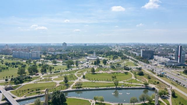 Панорама Минска. Белоруссия