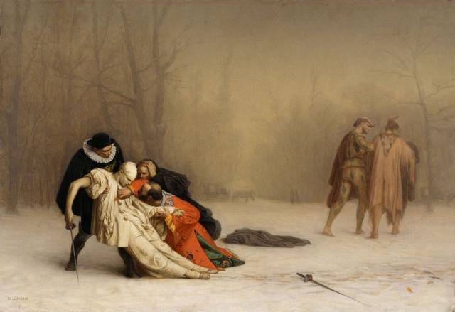 Жан-Леон Жером. Дуэль после маскарада. 1857