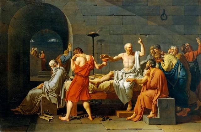Жак-Луи Давид. Смерть Сократа. 1787