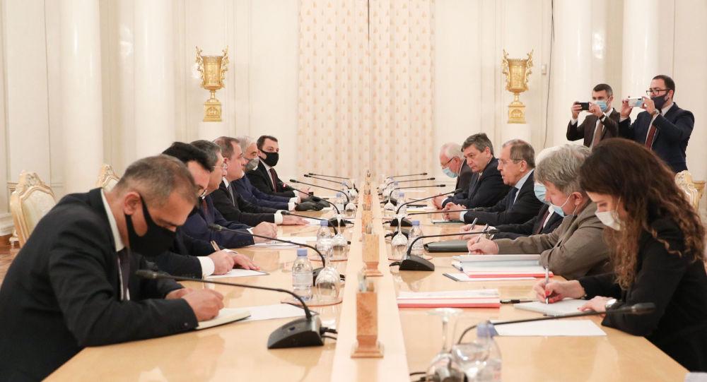Переговоры Сергея Лаврова и Джейхуна Байрамова. 26 августа 2020 года, Москва