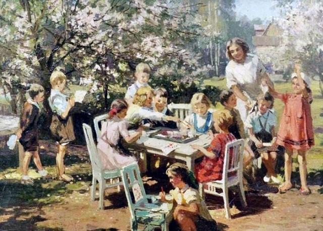 Бромулт Алфей Янович. Детский сад. 1950