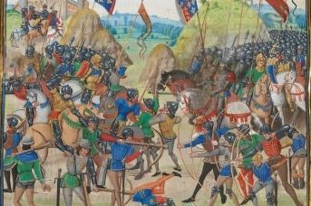 Битва при Креси. Миниатюра из Хроник Жана Фруассара. XV в