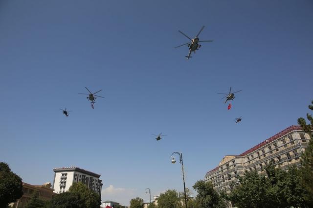 Азербайджанская и турецкая авиация совершают совместный полёт. Нахичевань