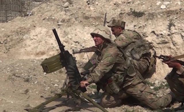 Солдаты армии Азербайджана. Нагорный Карабах