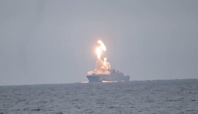 Пуск гиперзвуковой ракеты «Циркон» с борта фрегата «Адмирал Горшков»