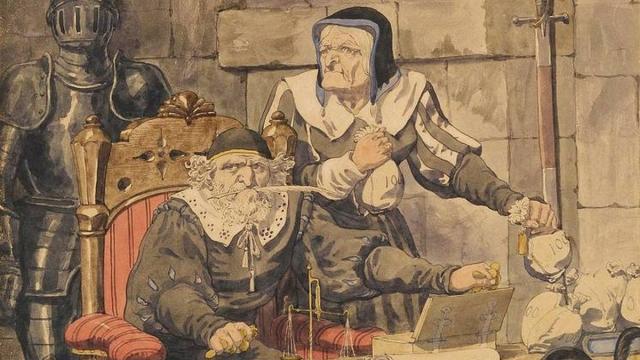 Ричард Дадд. Эскиз к иллюстрации одной из греховных страстей — алчности (фрагмент). 1854